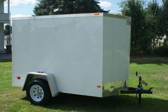 2014 Haulmark Polar White 5x8 +V-Nose Enclosed Cargo Trailer - Old Forge PA