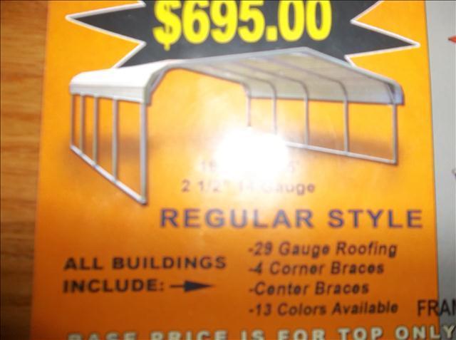2013 CAROLINA CARPORTS, INC. Garages or Carports