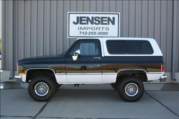 1985 chevrolet blazer for sale for Jensen motors sioux city