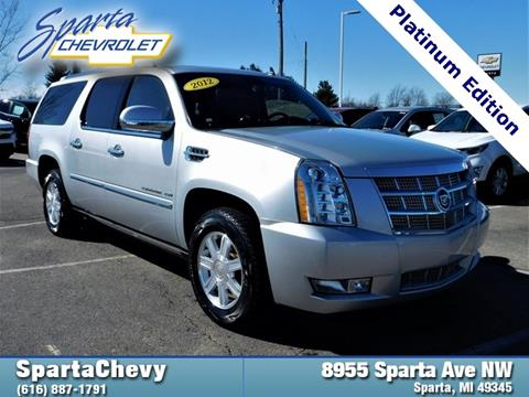 2012 cadillac escalade esv for sale in plainwell mi. Black Bedroom Furniture Sets. Home Design Ideas