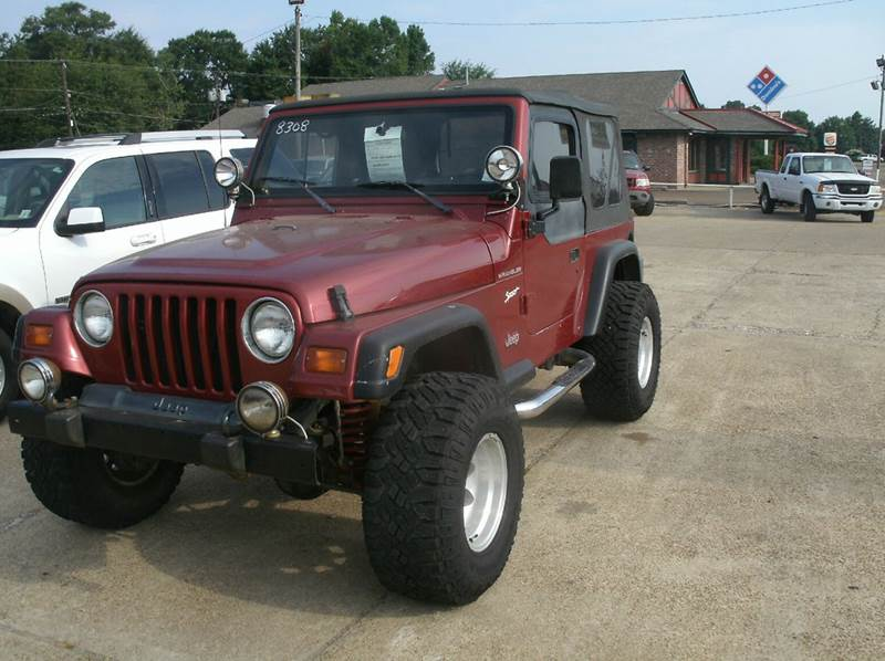 1998 JEEP WRANGLER SPORT 2DR 4WD SUV maroon front airbags - dual front seat type - bucket power