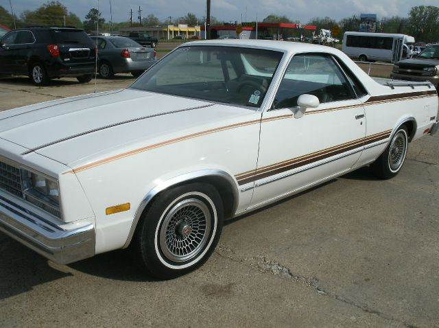 1983 CHEVROLET EL CAMINO BASE 2DR STD STANDARD CAB white front seat type - bench power brakes p