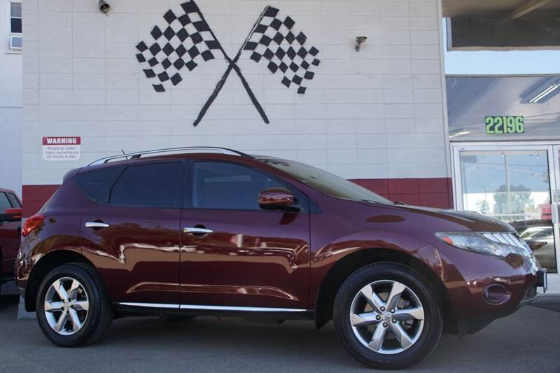 2010 NISSAN MURANO SL 4DR SUV red vin jn8az1mu5aw021412 great suv for the family with bose sound