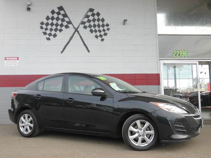 2010 MAZDA MAZDA3 I TOURING 4DR SEDAN 5A black mica 2-stage unlocking doors abs - 4-wheel activ