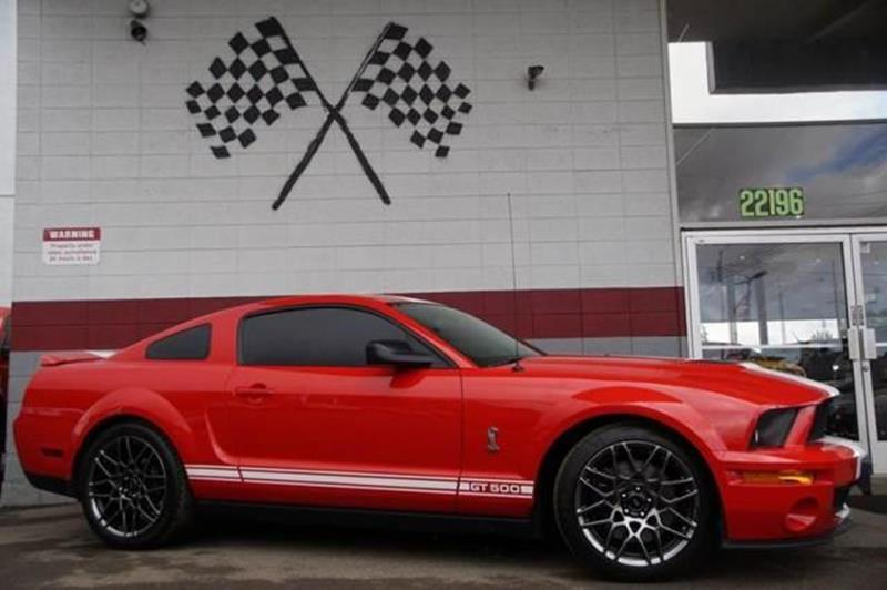 2007 FORD SHELBY GT500 BASE 2DR COUPE redfire metallic our amazing 2007 ford mustang shelby gt500