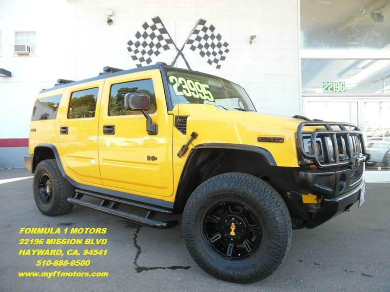 2004 HUMMER H2 4WD 4DR SUV yellow super clean hummer h2 great ride loaded with leather moon ro