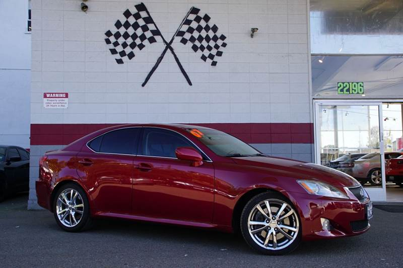 2007 LEXUS IS 350 BASE 4DR SEDAN matador red mica vin jthbe262975015526 only 69k miles and a fan