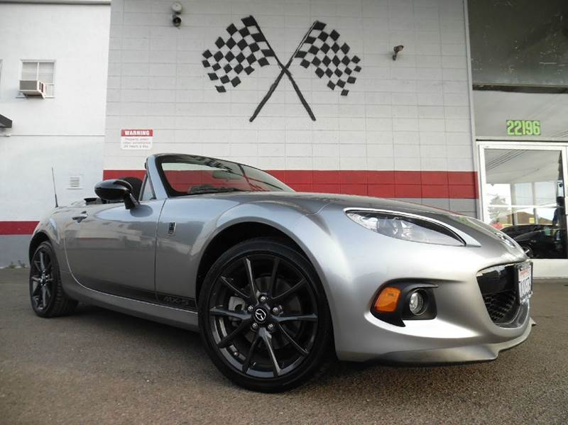 2015 MAZDA MX-5 MIATA CLUB 2DR CONVERTIBLE 6A WPOWER grey vin jm1nc2mf1f0242571 this car is in