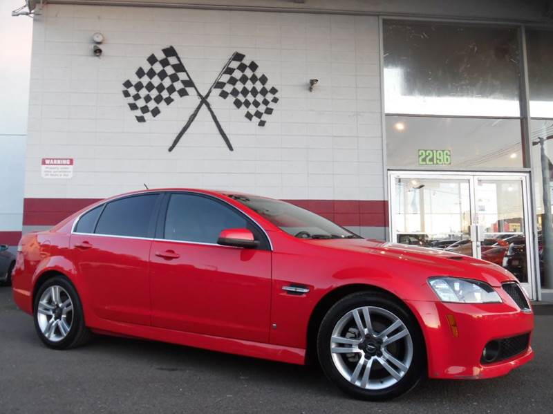 2008 PONTIAC G8 BASE 4DR SEDAN red abs - 4-wheel airbag deactivation - occupant sensing passenge