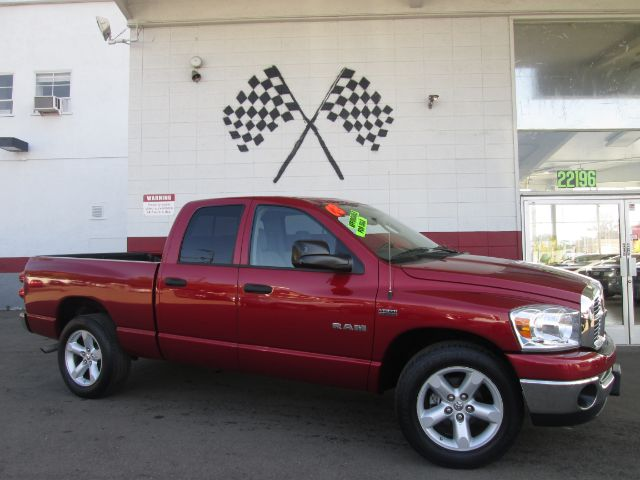 2008 DODGE RAM PICKUP 1500 BIG HORN EDITION SLT 4DR QUAD CA red 2-stage unlocking - remote abs -