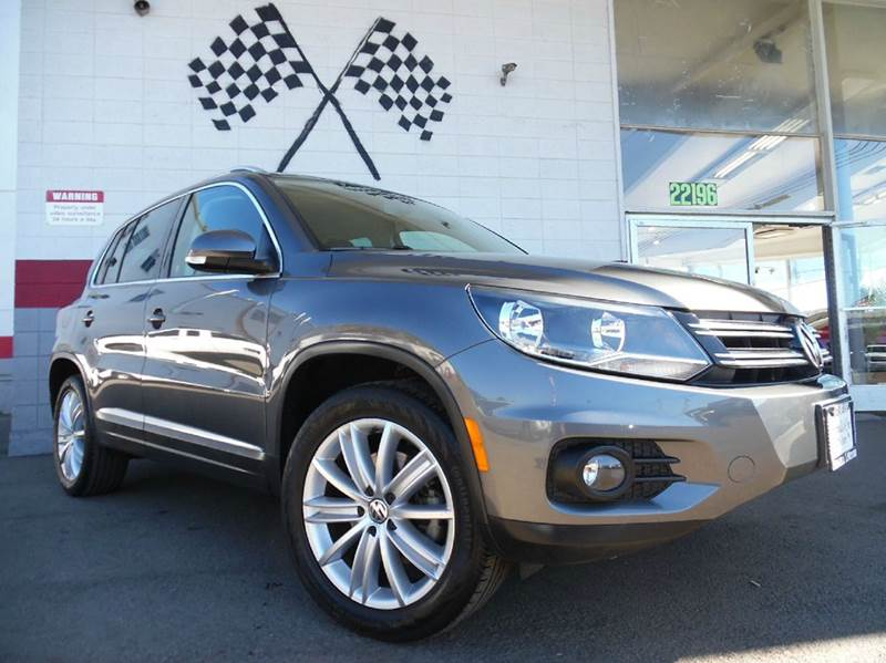 2013 VOLKSWAGEN TIGUAN SE 4DR SUV ENDS 113 dark grey 2-stage unlocking - remote abs - 4-wheel