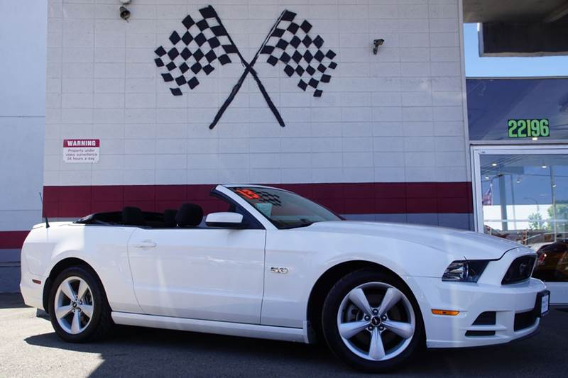 2013 FORD MUSTANG GT 2DR CONVERTIBLE performance white 2-stage unlocking doors abs - 4-wheel ai