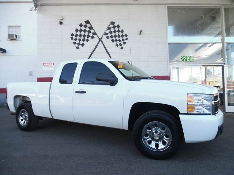 2008 CHEVROLET SILVERADO 1500 LT1 4WD 4DR EXTENDED CAB 65 FT white awesome four wheel drive che