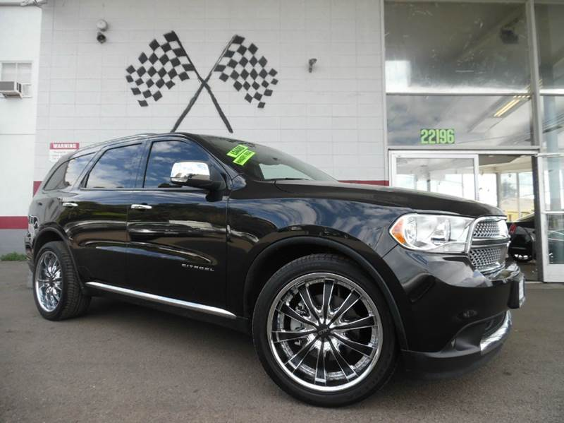 2013 DODGE DURANGO CITADEL AWD 4DR SUV black fully loaded dodge durango citadel edition rare suv