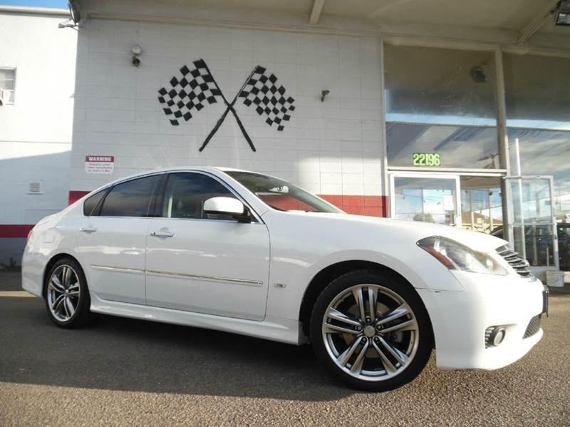 2010 INFINITI M35 BASE 4DR SEDAN white vin jn1cy0apxam910785 this car is fully loaded it runs
