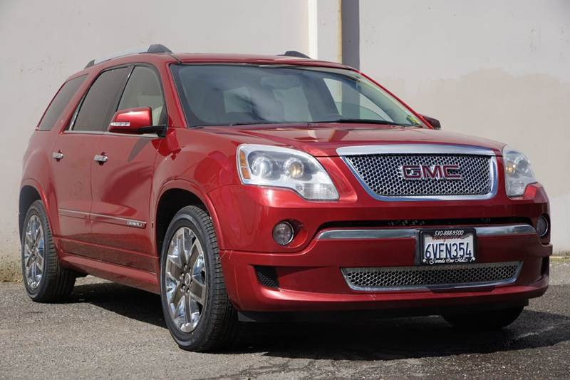 2012 GMC ACADIA DENALI 4DR SUV crystal red tintcoat abs - 4-wheel airbag deactivation - occupant
