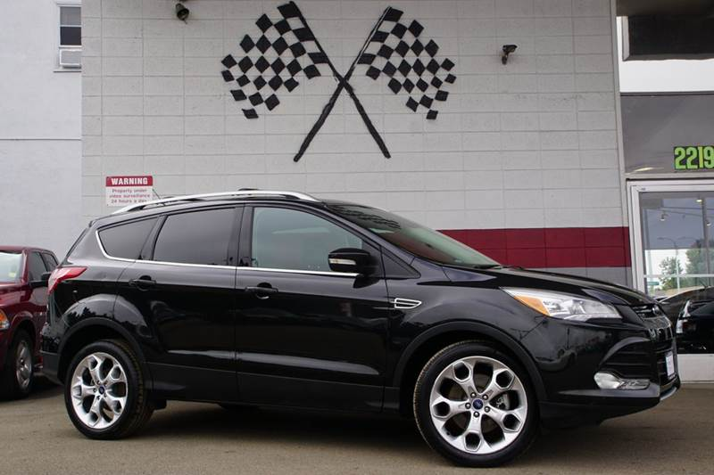 2013 FORD ESCAPE TITANIUM 4DR SUV tuxedo black 2-stage unlocking doors abs - 4-wheel air filtra