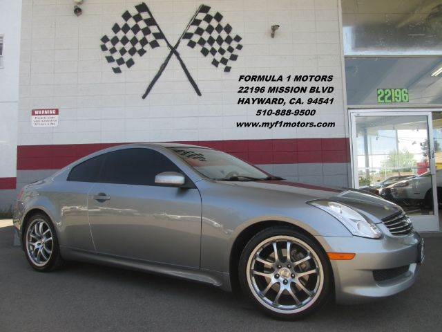 2007 INFINITI G35 2DR COUPE 35L V6 6M grey this is a very nice infiniti g35 super clean insid