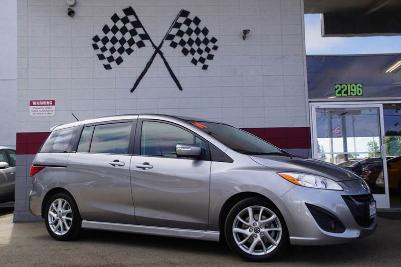 2014 MAZDA MAZDA5 GRAND TOURING 4DR MINI VAN liquid silver metallic 2-stage unlocking doors abs