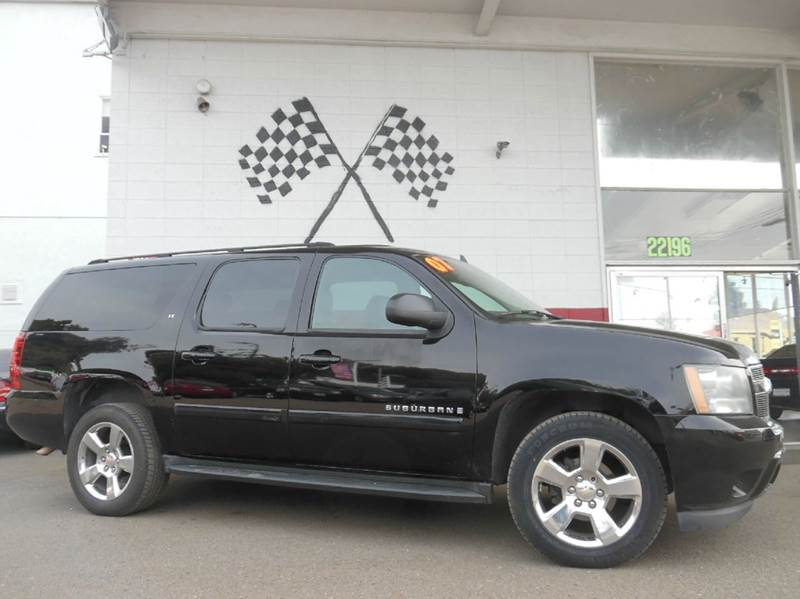2007 CHEVROLET SUBURBAN LT 1500 4DR SUV 4WD black 2-stage unlocking doors 4wd selector - electro