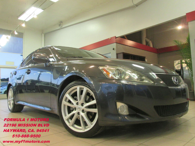 2007 LEXUS IS 250 4DR SEDAN obsidian gray loaded - leather - navigation - moon roof - heated and c