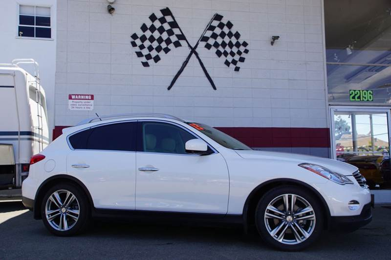 2013 INFINITI EX37 JOURNEY 4DR CROSSOVER moonlight white 2-stage unlocking doors abs - 4-wheel