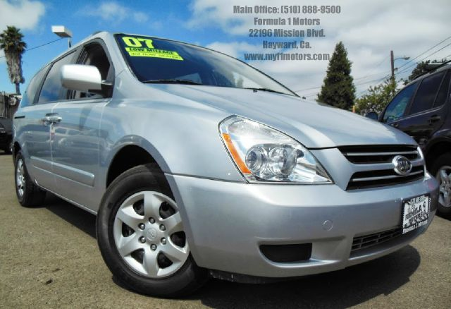 2007 KIA SEDONA LX LWB silver 38l v6 automatic 3rd row seating dual sliding doors luggage rack