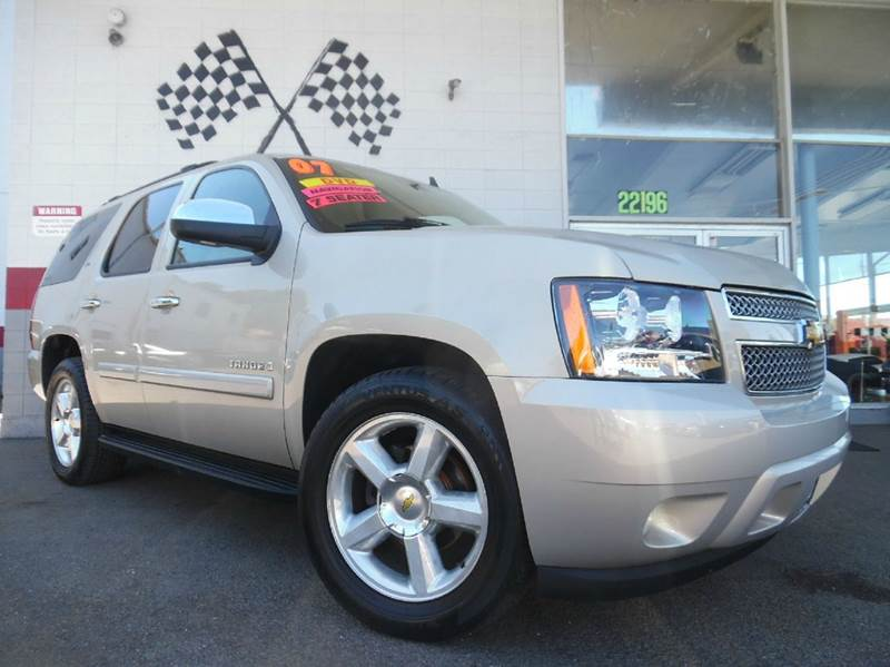 2007 CHEVROLET TAHOE LTZ 4DR SUV beige vin1gnfc13067r291135 loaded leather - moon roof - n