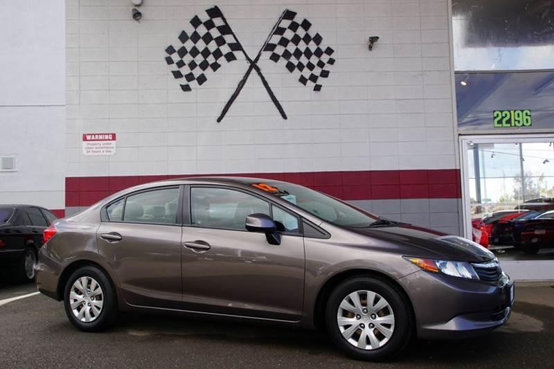 2012 HONDA CIVIC LX 4DR SEDAN 5A urban titanium metallic 2-stage unlocking doors abs - 4-wheel