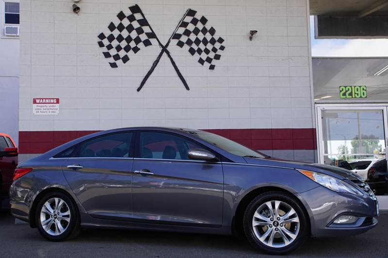 2012 HYUNDAI SONATA LIMITED 4DR SEDAN 6A harbor gray metallic 2-stage unlocking doors abs - 4-wh