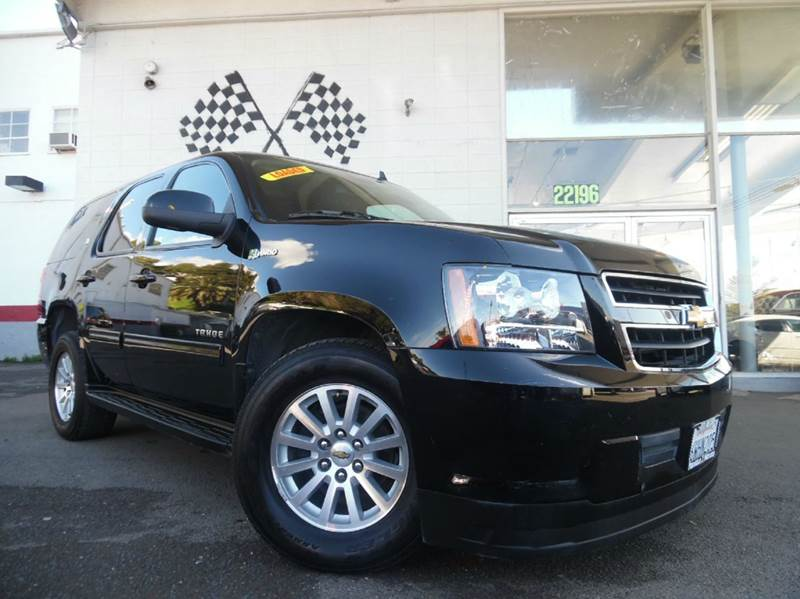 2012 CHEVROLET TAHOE HYBRID BASE 4X4 4DR SUV black great looking interior and a great seven seater