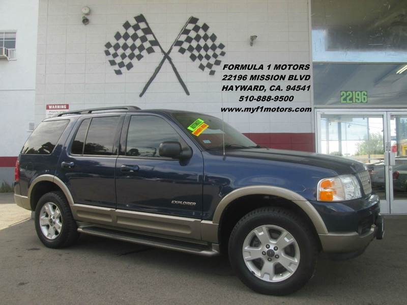 2004 FORD EXPLORER EDDIE BAUER 4DR SUV blue abs - 4-wheel adjustable pedals - power anti-theft