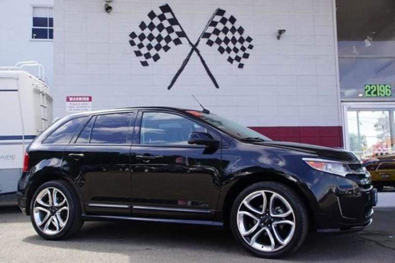 2012 FORD EDGE SPORT 4DR SUV tuxedo black metallic attractive is an understatement with this 2012