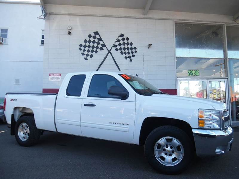 2012 CHEVROLET SILVERADO 1500 LT 4X4 4DR EXTENDED CAB 65 FT summit white 4wd selector - electro