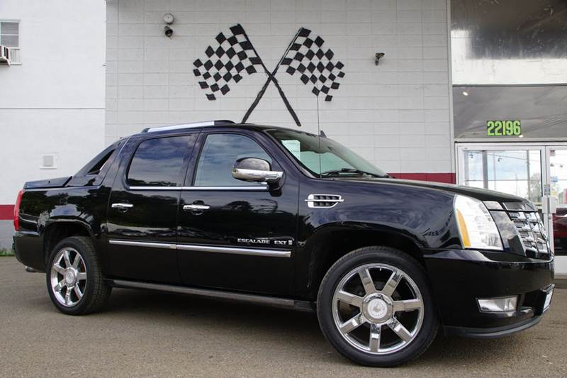 2008 CADILLAC ESCALADE EXT BASE AWD 4DR SB CREW CAB black raven vin 3gyfk62828g125383 from the to