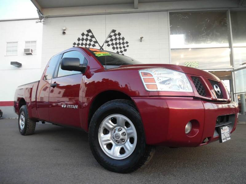 2005 NISSAN TITAN LE 4DR KING CAB RWD SB maroon abs - 4-wheel adjustable pedals - power anti-th