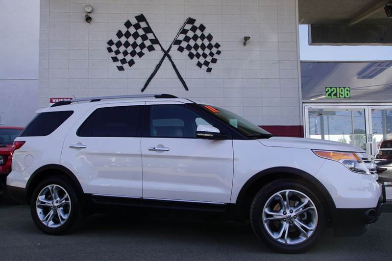 2011 FORD EXPLORER LIMITED 4DR SUV white vin 1fmhk7f85bga42656 great family vehicle with third ro