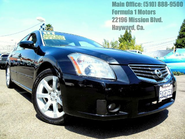 2007 NISSAN MAXIMA SE black 35l v6 24v automatic leather  moon roof parking assist rear abs br