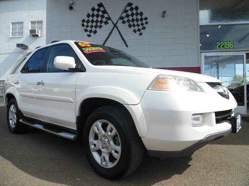 2005 ACURA MDX TOURING WRES WNAVI AWD 4DR SUV white beautiful car with amazing exterior design