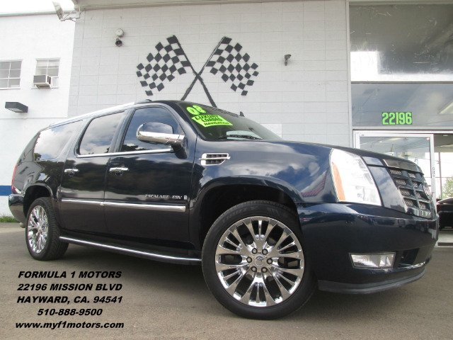 2008 CADILLAC ESCALADE ESV ESV blue dvdmoon roofnavigationleather fully loaded abs brakes