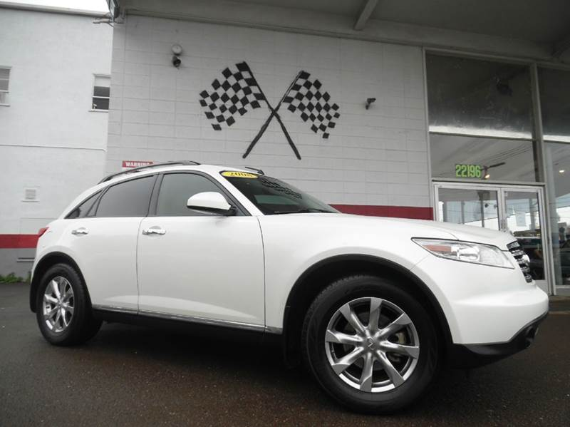 2008 INFINITI FX35 BASE 4DR SUV white vin jnras08u18x103887 great family car and in great conditi