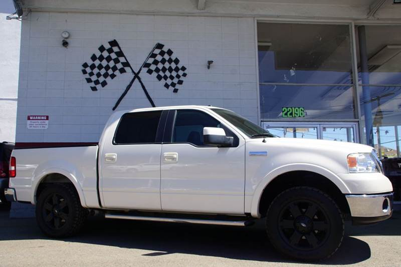 2007 FORD F-150 LARIAT 4DR SUPERCREW STYLESIDE 5 oxford white clearcoat 2-stage unlocking doors