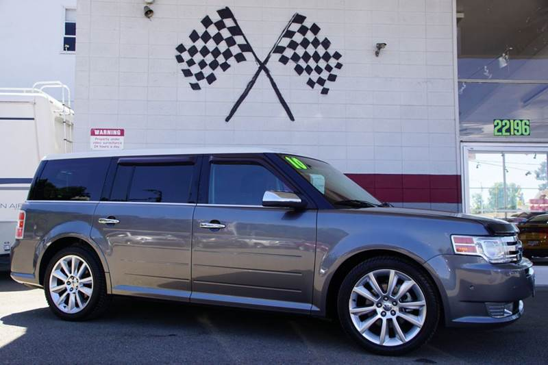 2010 FORD FLEX LIMITED AWD 4DR CROSSOVER WECOB gray 4wd type - on demand abs - 4-wheel air fil