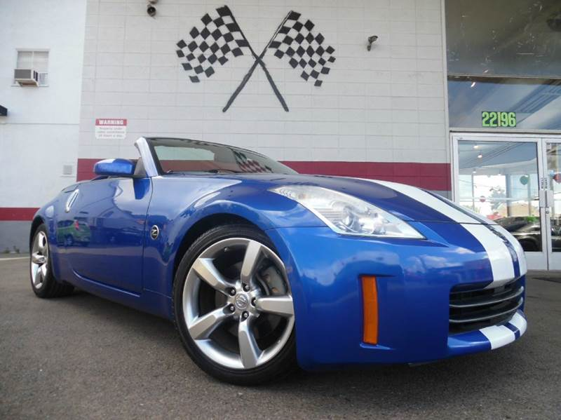 2007 NISSAN 350Z GRAND TOURING 2DR CONVERTIBLE 3 blue vin jn1bz36a87m651124 this 350z is a grea