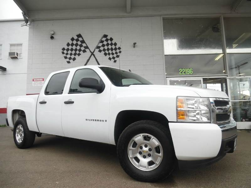 2008 CHEVROLET SILVERADO 1500 LS 2WD 4DR CREW CAB 58 FT SB white great pickup truck with six se