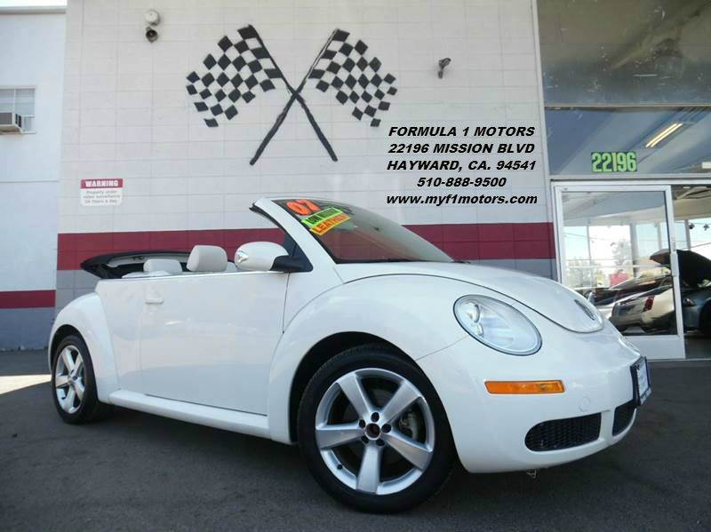 2007 VOLKSWAGEN NEW BEETLE TRIPLE WHITE PZEV 2DR CONVERTIBL white super clean volkswagon beetle