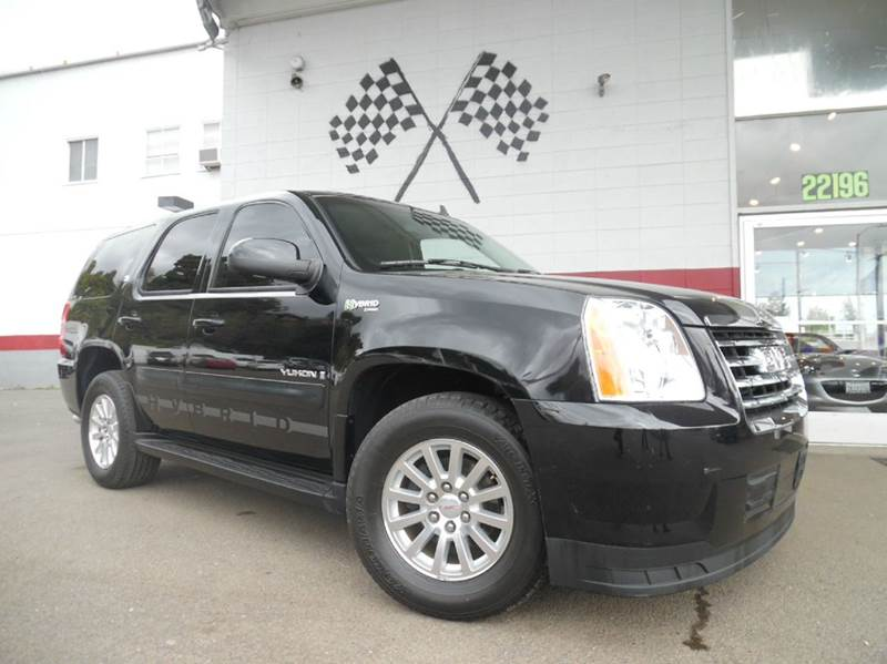 2008 GMC YUKON HYBRID 4X4 4DR SUV black vin 1gkfk13548r176384 this yukon is fully loaded and a hy