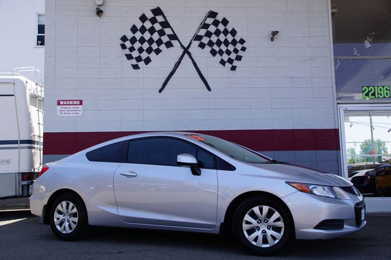 2012 HONDA CIVIC LX 2DR COUPE 5A silver 2-stage unlocking doors abs - 4-wheel air filtration a
