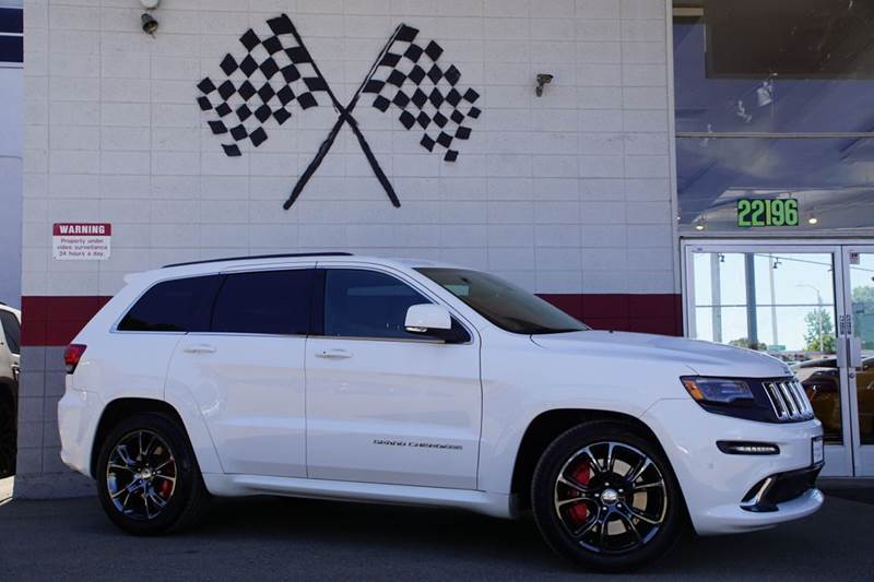 2014 JEEP GRAND CHEROKEE SRT 4X4 4DR SUV white 2-stage unlocking doors 4wd type - full time abs