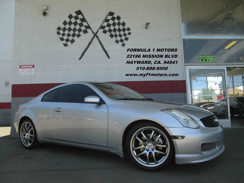 2007 INFINITI G35 BASE 2DR COUPE 35L V6 5A silver 2-stage unlocking - remote abs - 4-wheel a